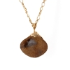 Boulder Opal Carved Shell Pendant (Chain Sold Separtely)