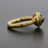 Grey Rosecut Diamond Gold Ring