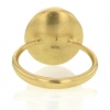 Mexican Matrix 18k Yellow Gold Egg Ring