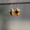 Tigers Eye Acorn Earrings