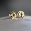 18k Gold Diamond Lily Pad Earrings