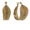 Feather 10k Gold Hoop Earrings