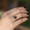 Mexican Matrix Opal Brown and Green Egg Ring