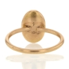 Aquamarine 18k Rose Gold Egg Ring