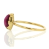 Pink Cats Eye 18k Gold Egg Ring