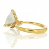 Moonstone 18k Gold Claw Ring