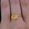 Fire Opal 18k Gold Claw Ring