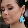 18k Gold Turquoise Wing XL Earrings