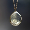 Large Diamond Slice Teardrop Halo Necklace