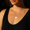 Libra 14k Gold Diamond Constellation Astrology Necklace