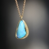 Ellipse Halo Boulder Opal Necklace 10