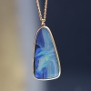 Boulder Opal 18k Gold Drop Necklace