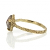 Raw Diamond Pear Gold Ring