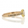 Champagne Diamond Gold Ring with Pave