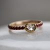 Diamond Ring with Ruby Pave
