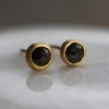 Opaque Diamond Gold Stud Earrings