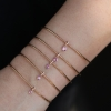 Diamond and Pink Sapphire 18k Rose Gold Slinky Bracelet