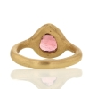 Pink Teardrop 18k Tourmaline Ring