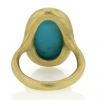 18k Green Gold Turquoise RIng