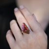 Asymmetrical Pink Tourmaline Ring