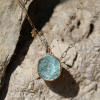 Aquamarine Slice Necklace