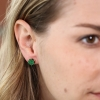 Uvarovite Gold Post Earrings