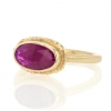 All Gold African Ruby Oval Ring