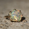 Double Basket Mexican Fire Opal All Gold Ring