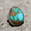 Pilot Mountain Turquoise Asymmetrical Ring