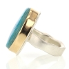 Gem Silica Silver and Gold Ring