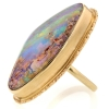 All Gold Opalized Wood Ring