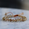 Gold Rutile Quartz 8mm Smooth Bracelet