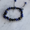 Lapis, Blue Tiger Eye and Antique Brass Bracelet