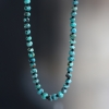 Faceted Turquoise Long Beaded Necklace