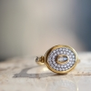 Pave Diamond Yellow Gold with Oval Center Diamond