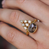 Rustic and Polki Diamond Gold Ring