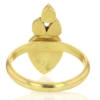 Rose Cut and Polki Diamond Gold Ring