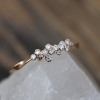 Thin Diamond Cluster 18k Rose Gold Ring