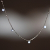 Round Brilliant Diamond Fringe Necklace
