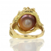 Japanese Kasumi Pearl Ring with Diamonds and Sapphire Accents
