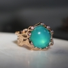 Peruvian Opal 18k Rose Gold Ring with Diamonds