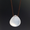 White Chalcedony Smooth Zen Gems Necklace