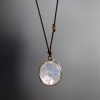 Rainbow Moonstone Simple Drop Necklace