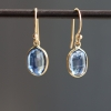 Kyanite Gold Drop Earrings
