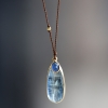 Double Blue Kyanite Cord Necklace