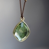 Green Tourmaline Free form Cord Necklace