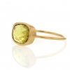 Yellow Tourmaline 18k Gold Faceted Ring