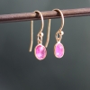 Small Ruby 18k Gold Drop Earrings
