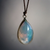 Ethiopian Opal Nylon Gold Cord Necklace
