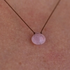 Pink Tourmaline Zen Gems Necklace